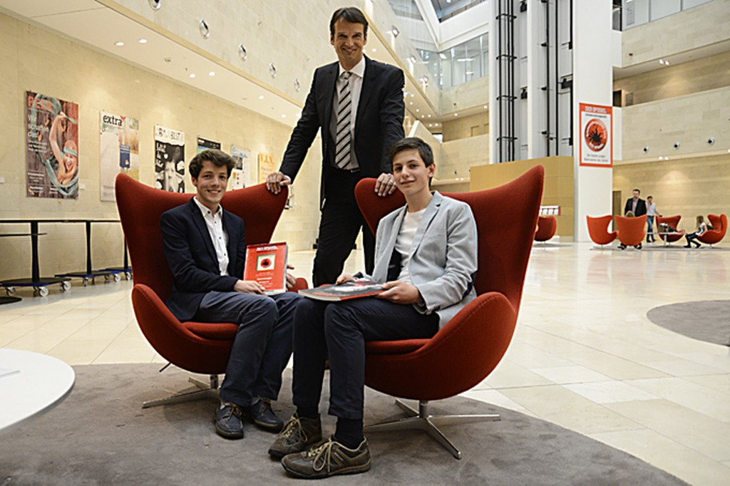 DER SPIEGEL - Schülerzeitungspreis, Gesamtsieger mit Klaus Brinkbäumer - Foto: Michael B. Rehders - Hamburg 2014