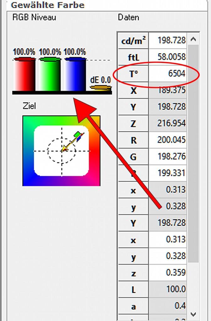 10 HCFR RGB-Niveau nach der Kalibrierung