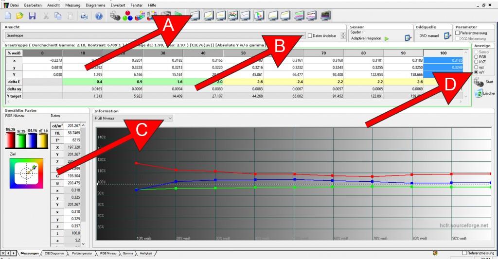7 HCFR Ist-Messung