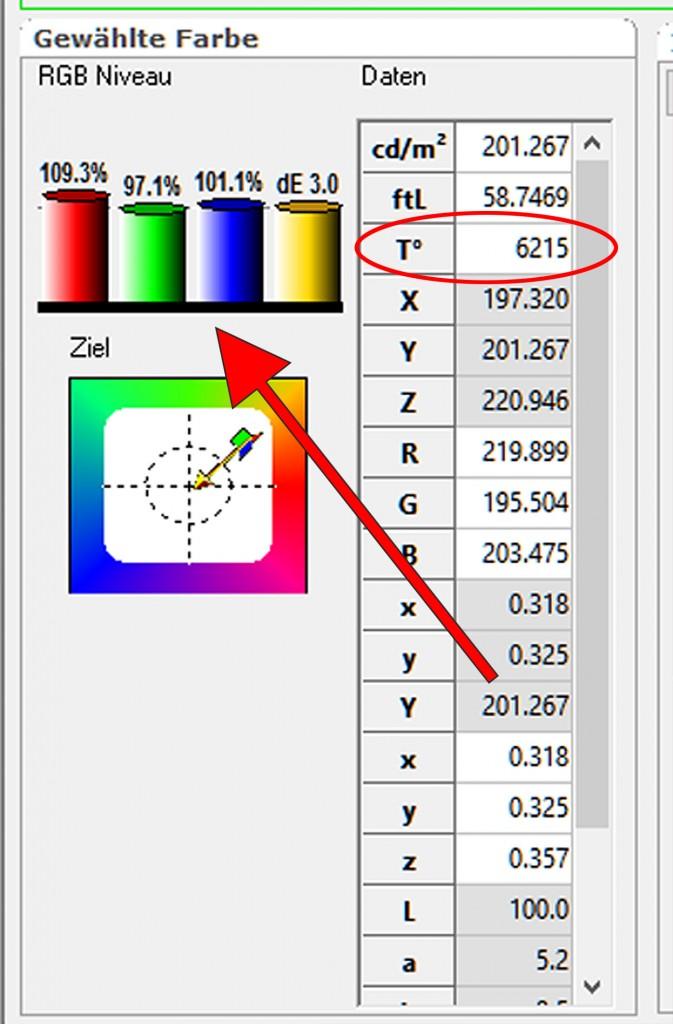 9 HCFR RGB-Niveau - Ist-Zustand