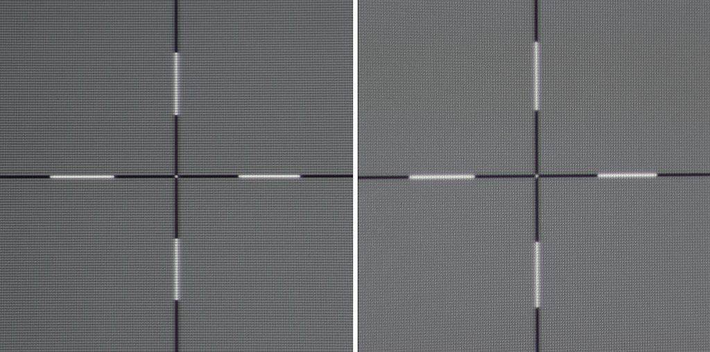 Die Schärfe ist auf der gesamten Bildfläche angenehm gleichmäßig. In der Bildmitte (Foto rechts) gibt es nichts zu kritteln. Selbst am Bildrand (Foto links) ist jeder Pixel zu sehen.