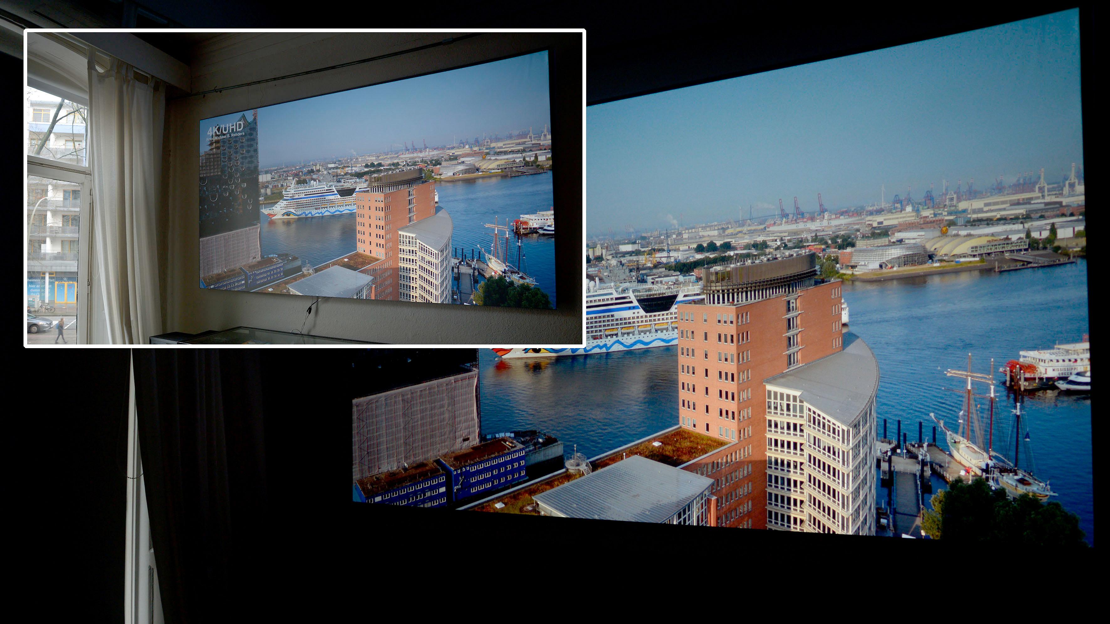 Foto: Michael B. Rehders Cinegrey 3D mit und ohne Tageslichteinfall.