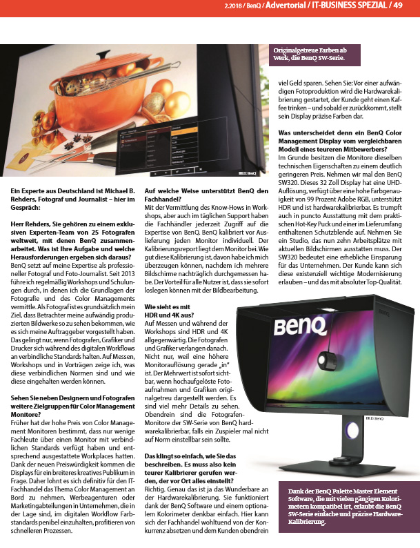 IT Business - Interview Michael B. Rehders Ausgabe 2-2018 - Seite 49