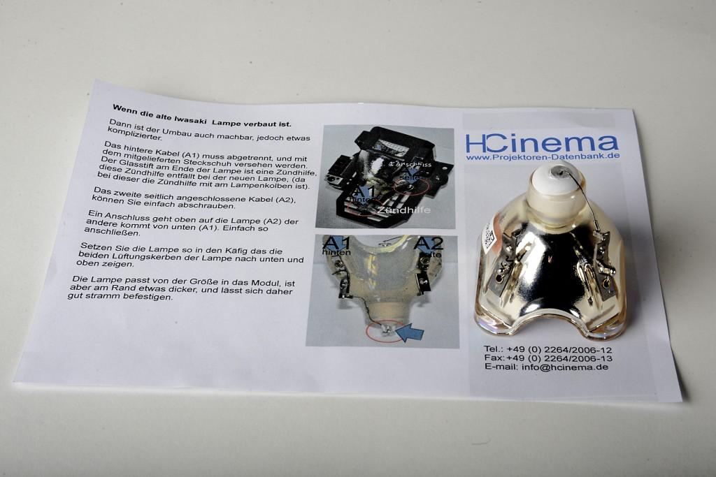 HCinema Einbauanleitung für die nicht originale JVC-Lampe_MBR2683