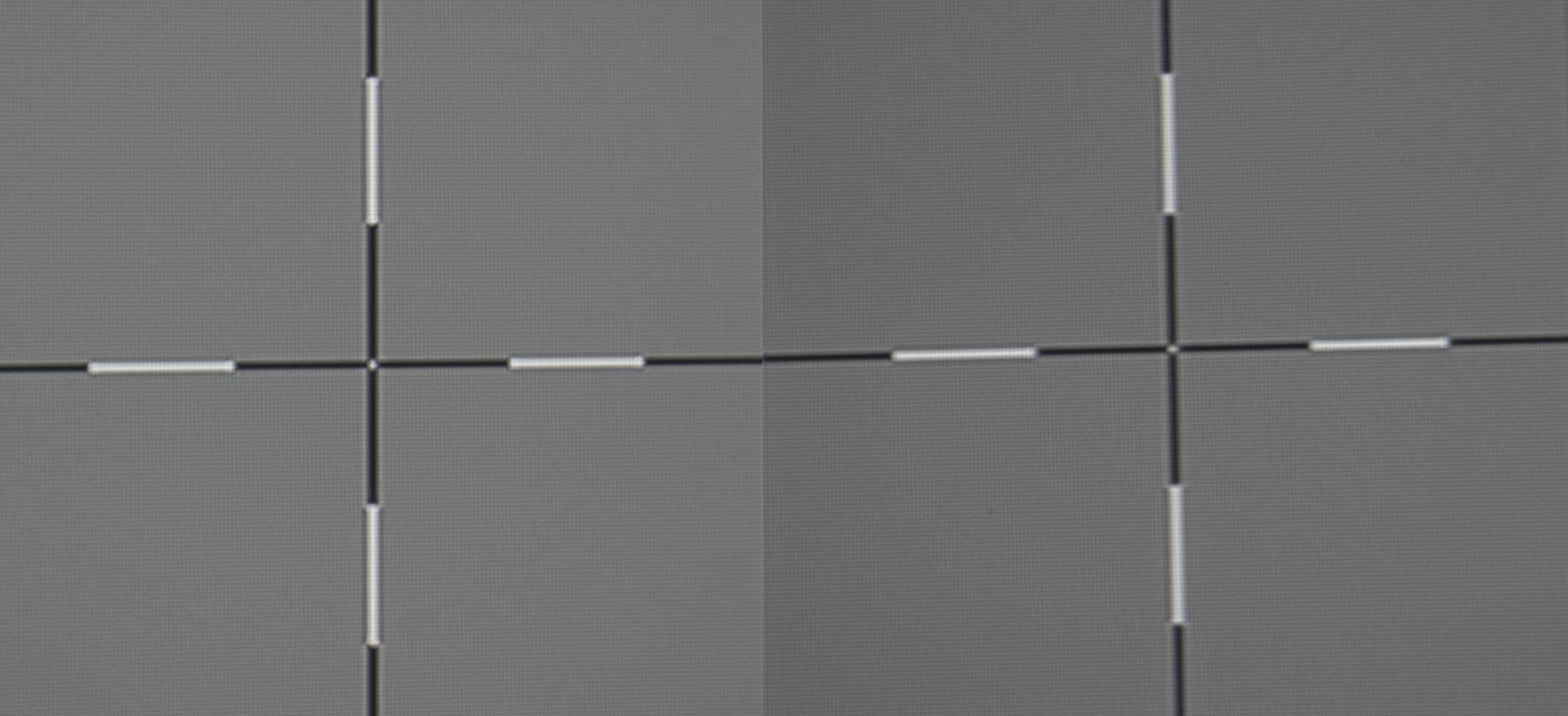 Acer V9800 - Schärfe - links Leinwandmitte - rechts Leinwand linke Seite