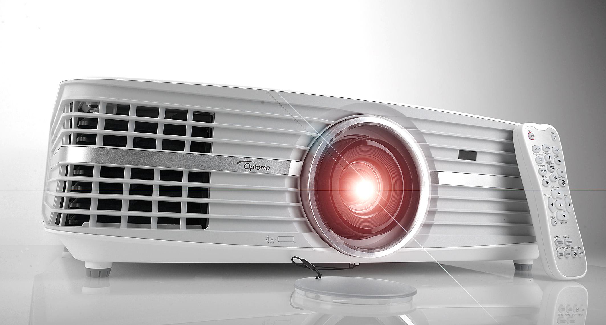 Foto: Michael B. Rehders Der Optoma UHD550X ist der erste 4K-Projektor, den es für unter 2000 Euro zu kaufen gibt.