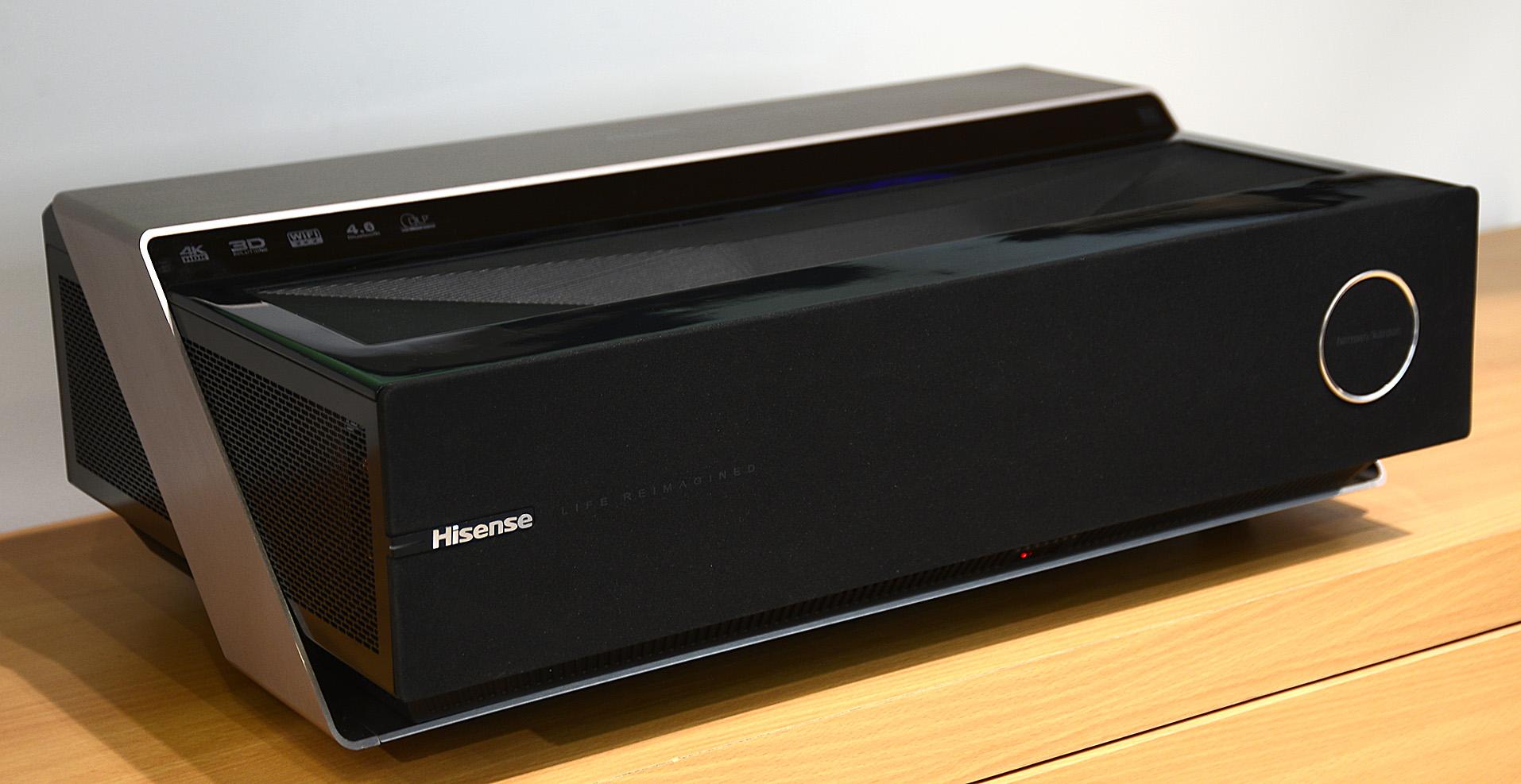 Foto: Michael B. Rehders Der Hisense 88L5 Laser-Projektor macht als 4K-TV-Ersatz auch optisch was her.