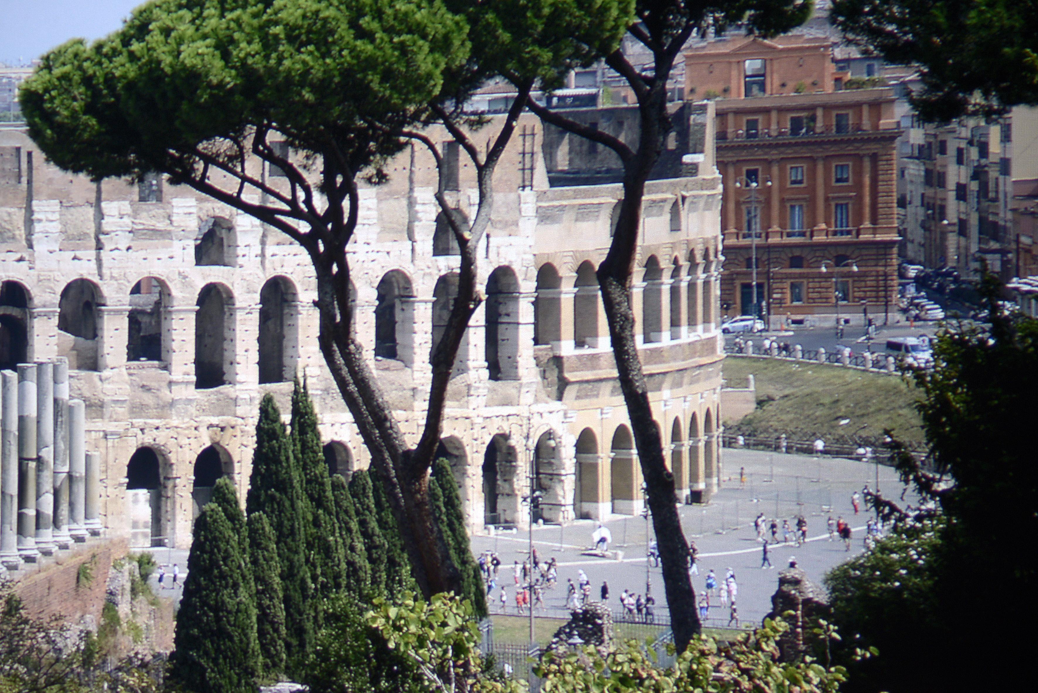Foto: Michael B. Rehders Eine weitere Aufnahme habe ich in Rom geschossen. Auf dem Platz vor dem Kolosseum sind einzelne Personen gut konturiert. Das Gebäude im Hintergrund zeigt alle einzelnen Steine. Selbst die feine Struktur der Mauer auf dem oberen Innenring des Kolosseums ist sichtbar. Darüber hinaus gelingt die nuancierte Darstellung der verschiedenen Grünfarbtöne der Bäume und Sträucher ganz hervorragend.