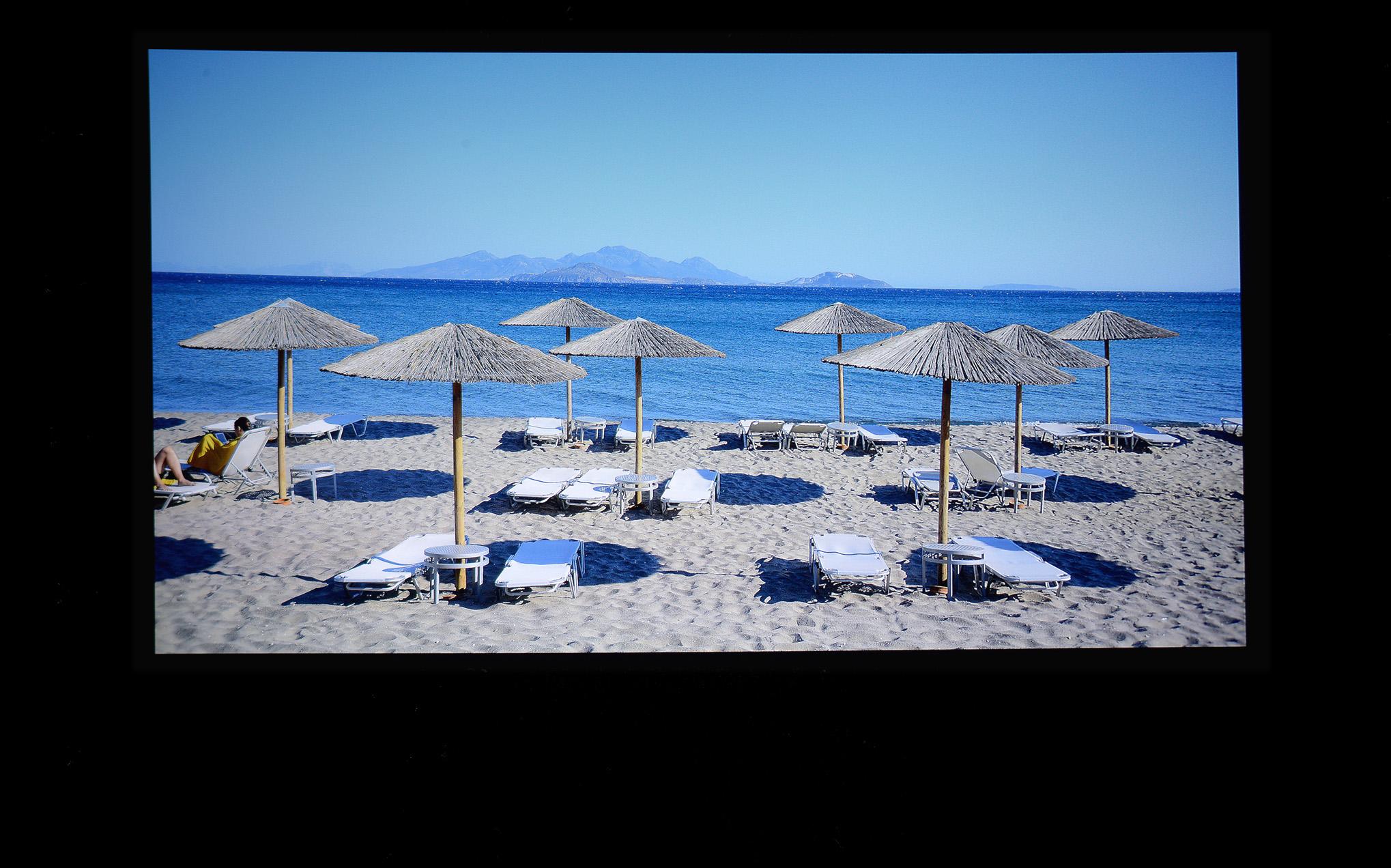 Foto: Michael B. Rehders Die Testleinwand ist spiegelglatt. Meine Urlaubsaufnahme von der Insel Kos in Griechenland erscheint originalgetreu.