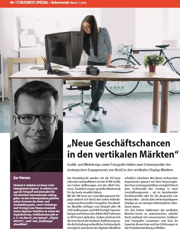 IT Business - Interview Michael B. Rehders Ausgabe 2-2018 - Seite 48