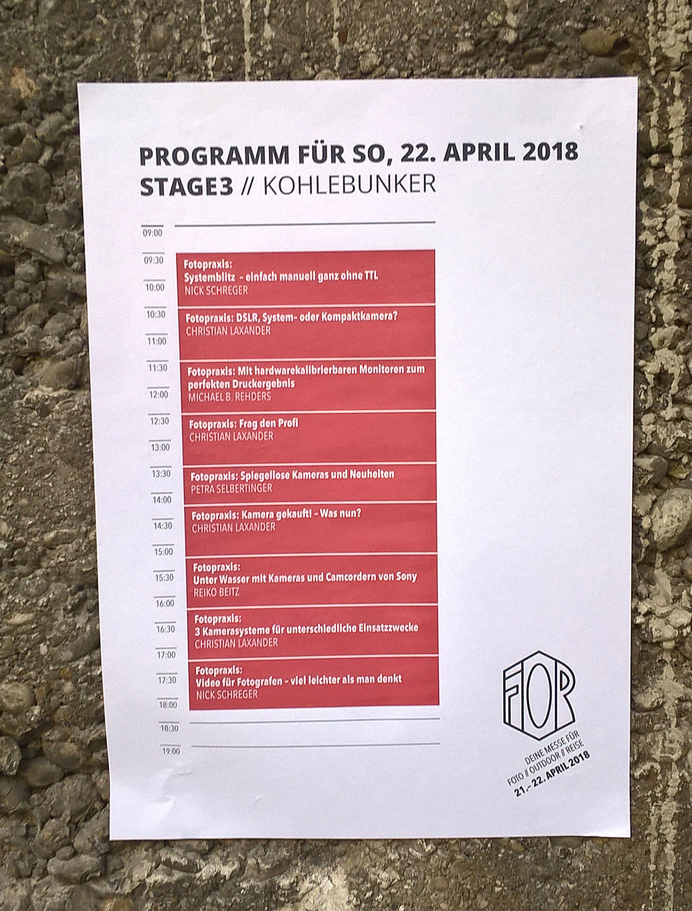 FOR - Aushang - Foto Michael B. Rehders - München 2018