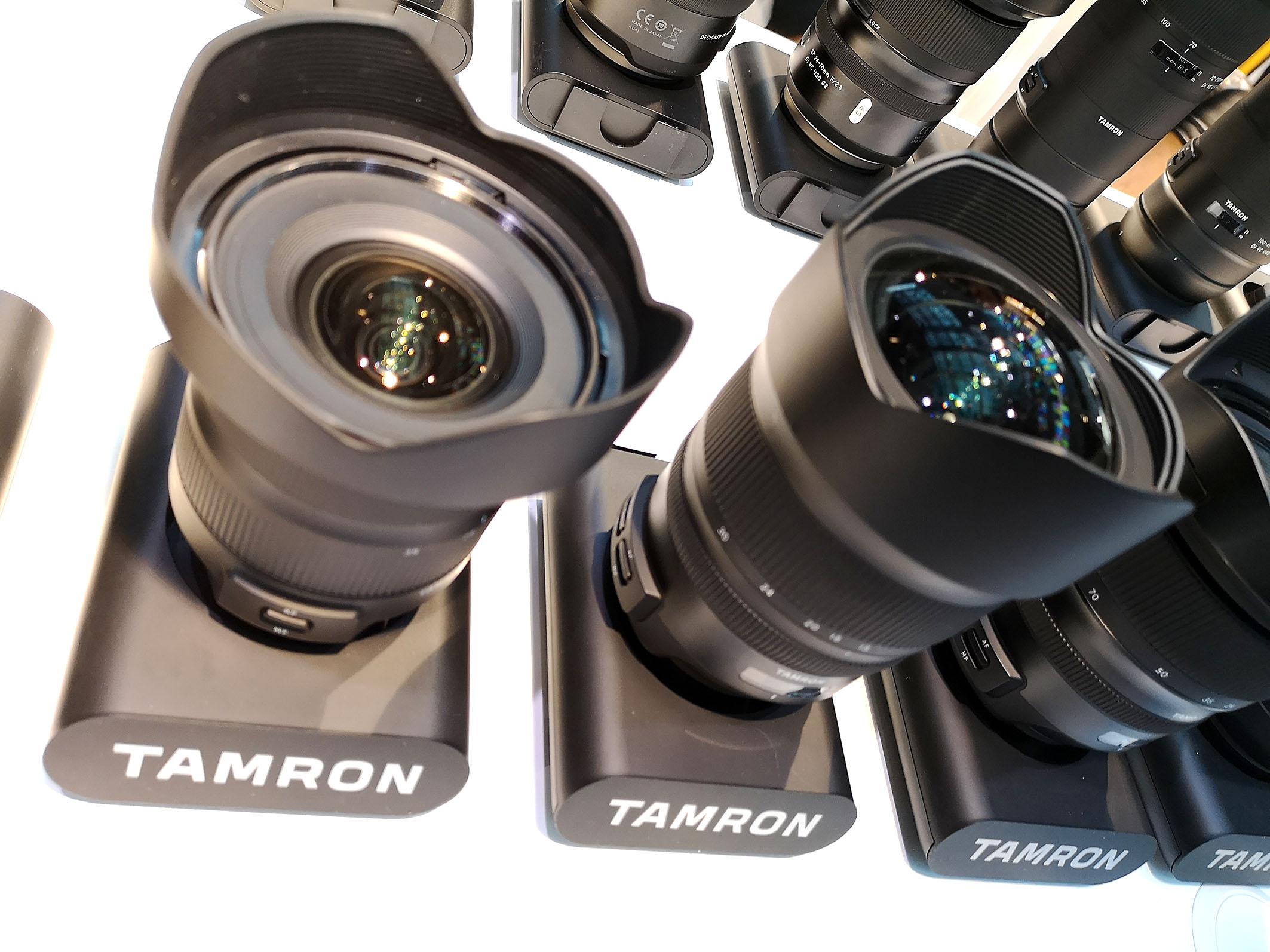Foto: Michael B. Rehders - Tamron präsentiert seine hochwertigen Objektive, die für alle namenhaften Kamerahersteller verwendet werden können.
