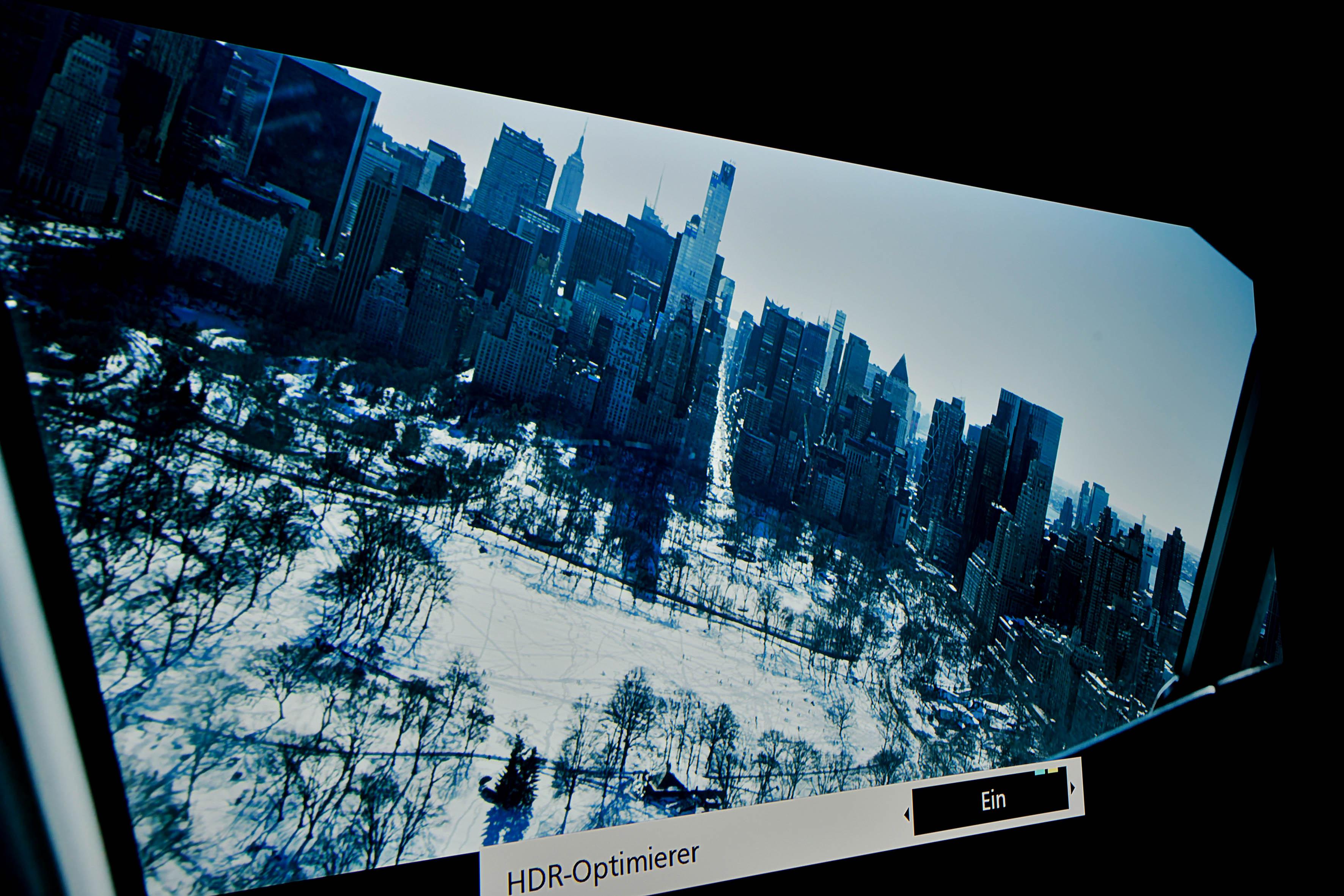 """HDR – Screenshot aus dem Film SULLY mit eingeschaltetem """"HDR Optimierer"""""""