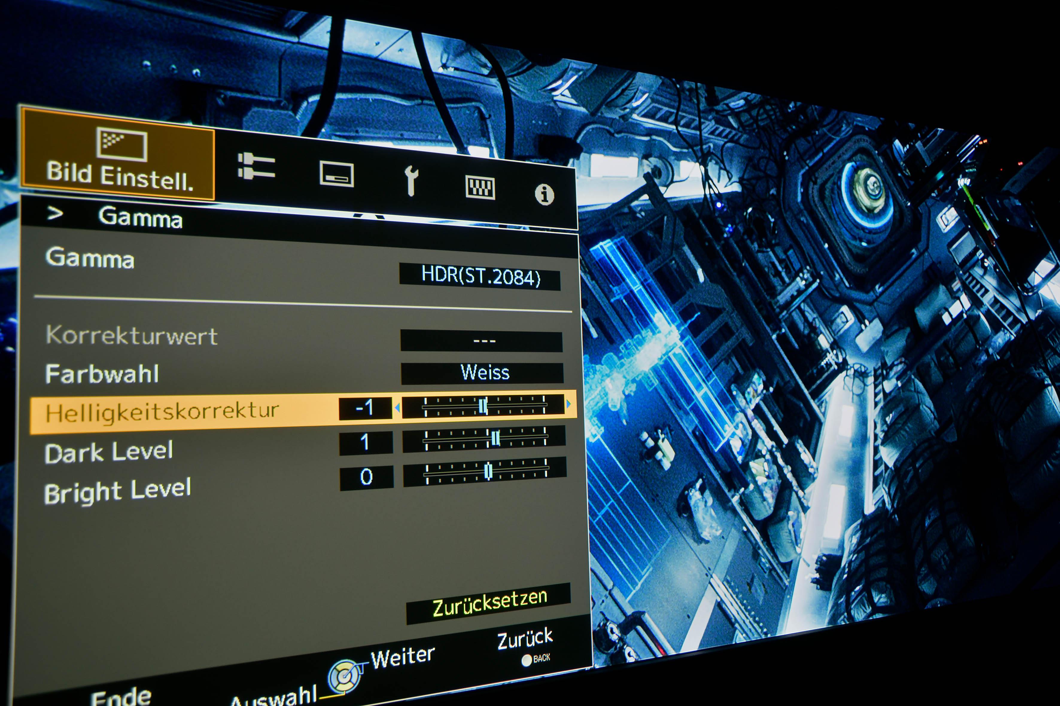 JVC DLA-X7900 – In der Idealeinstellung werden alle Bildinhalte dargestellt, die sich auf der Datei des Films von LIFE befinden.