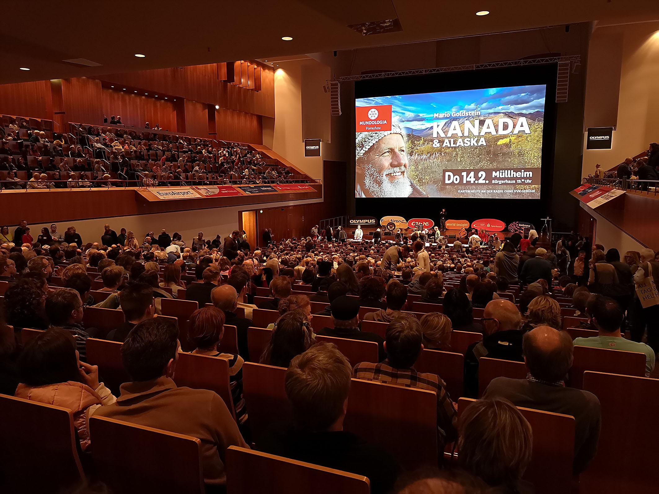 Foto: Michael B. Rehders - Der große Konzertsaal war bei fast jedem Reisevortrag ausverkauft.