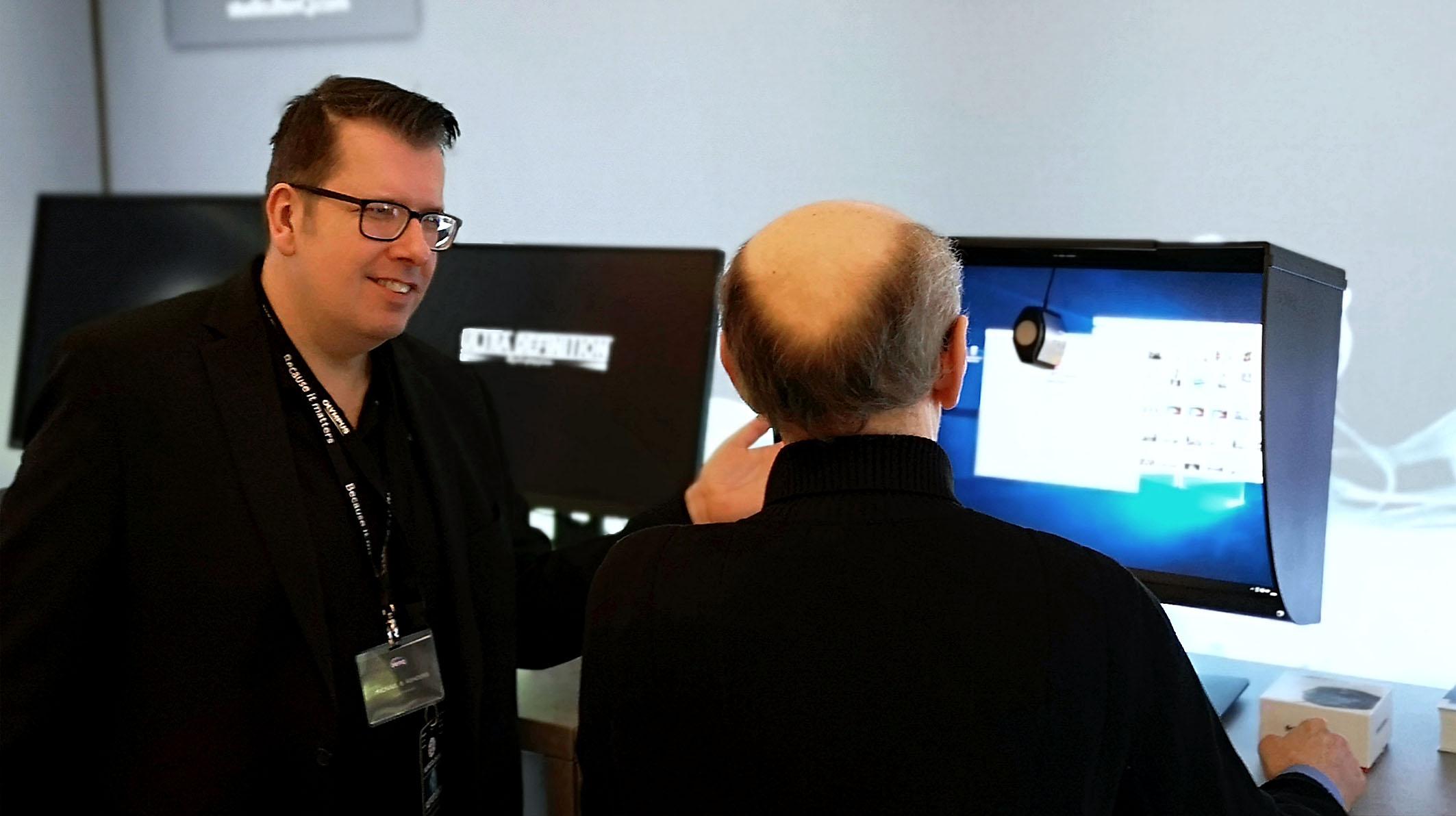 Am Stand von BenQ konnten alle Seminarteilnehmer und Besucher lernen, wie ein Color Management Display kalibriert wird.