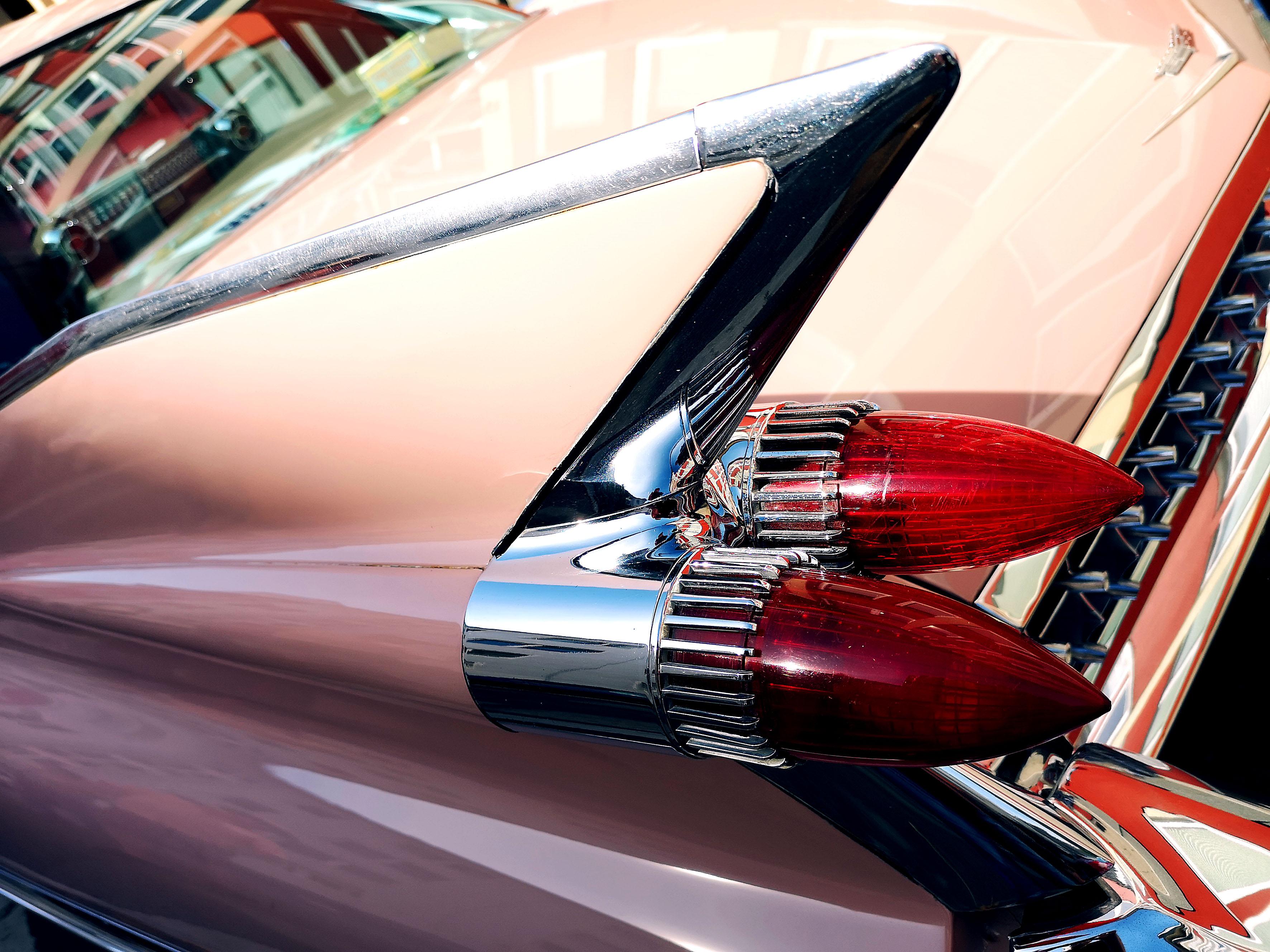 Pink Cadillac. Heckflossen in Perfektion! Foto: Michael B. Rehders