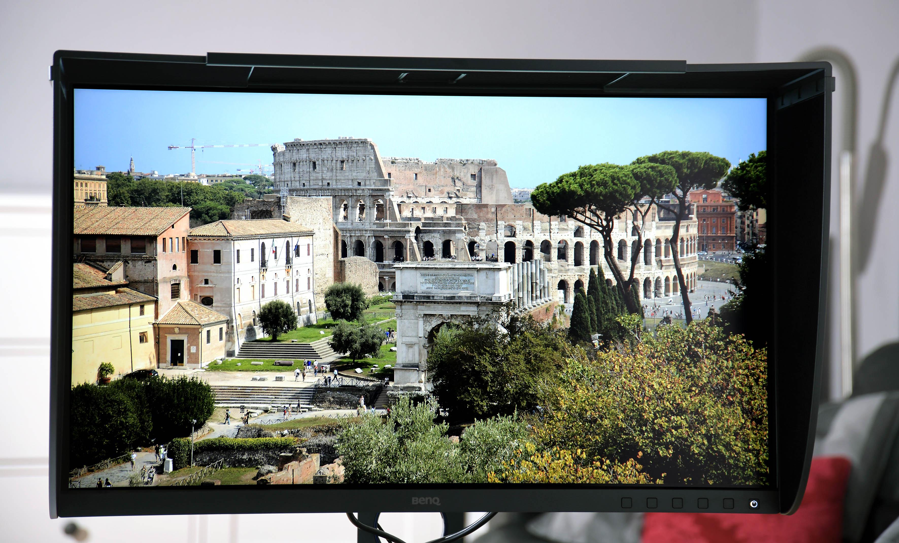 Foto: Michael B. Rehders – Meine Originalaufnahme von Rom wird makellos vom BenQ dargestellt.