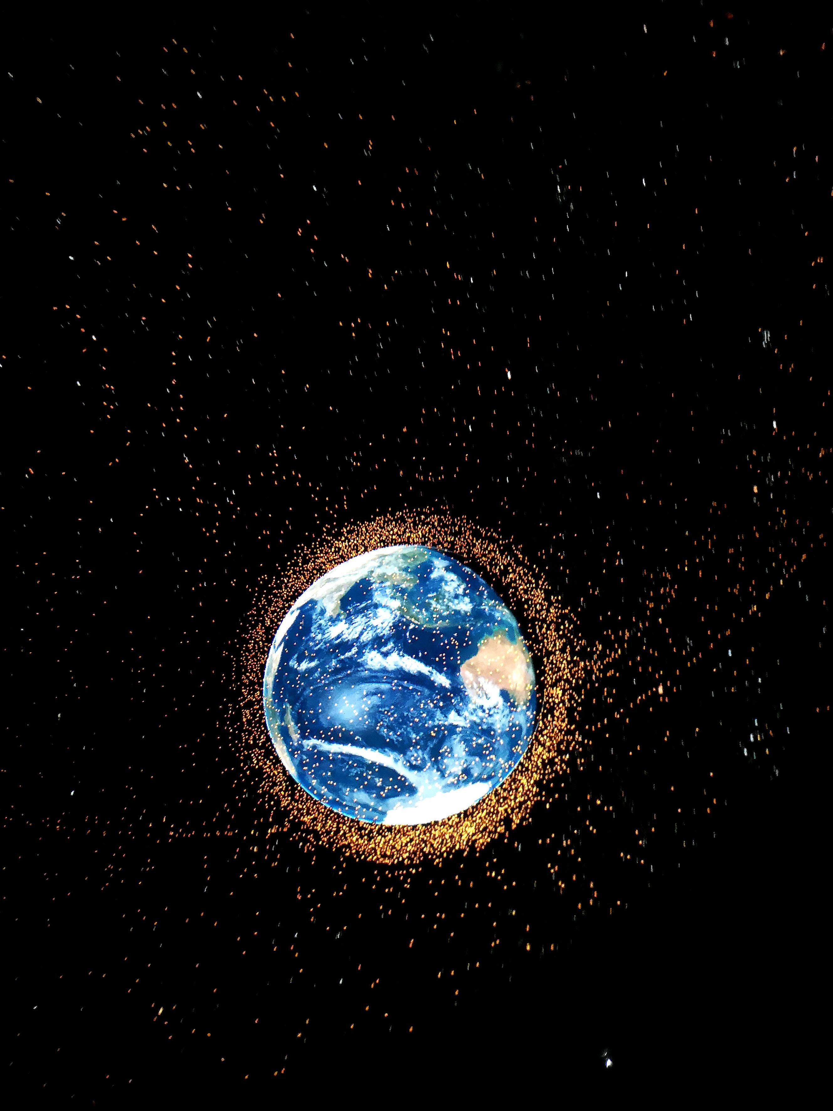 Foto: Michael B. Rehders - Die Aufnahmen aus unserem Universum sehen auf der Kuppel fantastisch aus.